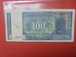 INDE 100 RUPEES 1969-70 CIRCULER - Inde