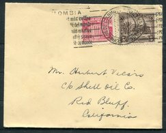 Colombia Pacific Steam Navigation Co. Cover - Shell Oil, Red Bluiff California USA - Colombia