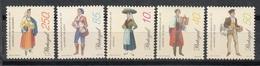 PORTUGAL 1998 - TRAJES REGIONALES - YVERT Nº 2216/2220** - Textile