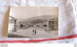 CARTE PHOTO , Pont De Neuville-sur-Saône ( Dynamité Par Les Allemands 1944 ) ..........................1644 - Neuville Sur Saone