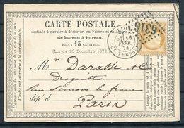 1874 France Carte Postale Lyon 6316 - Paris - Postmark Collection (Covers)