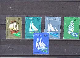 POLOGNE 1974 BATEAUX Yvert 2157-2161 NEUF** MNH - 1944-.... République