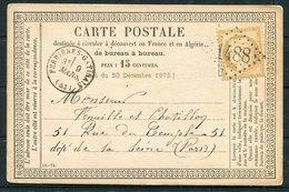 1876 France Carte Postale Ferrières-en-Gâtinais 1488 - Paris - Postmark Collection (Covers)