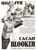 """PUB   CACAO   """" BLOOKER """"    1930  ( 2 ) - Publicité"""