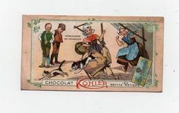 CHROMO Chocolat Kohler Les Petits Métiers Enfants Marchande De Volailles N°12 - Chocolat