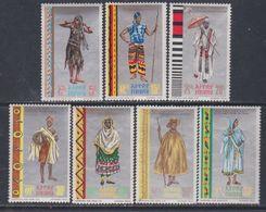 Ethiopie N° 520 / 26 X Costumes Régionaux, La Série Des 7 Valeurs Trace De Charnière Sinon TB - Ethiopie