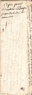 Vieux Papier Du Béarn, 1786, Procès Entre Le Tailleur Palois Artigou Et Poeylaud De Soumoulou, Séquestres Nommés - Documents Historiques