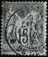 -Sage N°77 Type II   O.  PARIS Rue De Cléry Mars 1877. - 1876-1898 Sage (Type II)