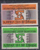 Ethiopie N° 530 / 31 O  Cinquantenaire De L' O. I. T. Les 2 Valeurs Oblitérations Moyennes Sinon TB - Ethiopie