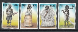 FIJI 1998 - TRAJES REGIONALES - YVERT Nº 831/834** - Textile