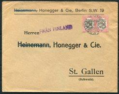 1922 Finland - Berlin Germany. Stockholm Sweden FRAN FINLAND Paquebot - Finland