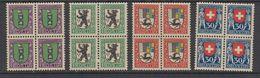 Switzerland 1925 Pro Juventute 4v Bl Of 4 ** Mnh (42189) - Pro Juventute
