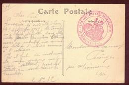 Franchise Militaire * Train Sanitaire Semi-permanent P .  *  Blessé - Postmark Collection (Covers)