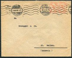 1930 Finland Helsingfors Cover - Honegger & Co.  St Gallen, Switzerland - Finland