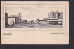 B35 /   Ägypten Alexandrie Station San Stefano Bahnhof Gare Egypte Um 1905 - Cartes Postales