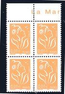 BLOC DE 4 TIMBRES N° 3731e- ITVF- GAO - SANS PHOSPHORE - NEUF **MNH. - Variétés Et Curiosités