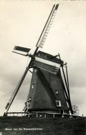 Rijnsaterwoude, Geestmolen, Poldermolen, Braassemermeer, Windmill, Real Photo - Windmolens