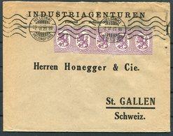 1923 Finland Helsingfors Industriagenuren Cover - Honegger & Co.  St Gallen, Switzerland - Finland