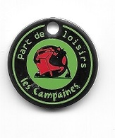 Jeton De Caddie  Ville, Parc  De  Loisirs  LES  CAMPAINES  à  ACCOLANS  ( 25 ) - Jetons De Caddies