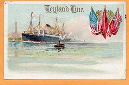 Leyland Line 1913 Postcard - Piroscafi
