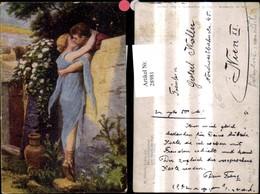 28981,Künstler Ak H. Hirsch Mauerblümchen Liebe Kuss über Mauer - Paare