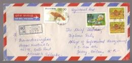 9533- Ceylon, Sri Lanka, Cover To UK Scott  839 Dated 1990+924+980x2 - - Sri Lanka (Ceylon) (1948-...)