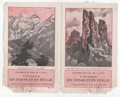 DEPLIANT CHEMINS DE FER DE L'EST VOYAGES EN SUISSE ET EN ITALIE - L'ARLBERG ET LES DOLOMITES - L'ENGADINE - 1927 - Dépliants Turistici