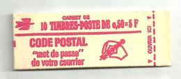 Carnet 1664 C8 Sans Numéro De Confectionneuse, Fermé - Carnets