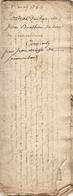 Vieux Papier Du Béarn, 1755, Bergé/Vergé De Soumoulou Vend Le Touya De Lespèche à Bouilhou De Limendous - Documents Historiques