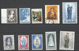 10 Sellos De Bélgica De La Santísima Virgen. - Cristianismo