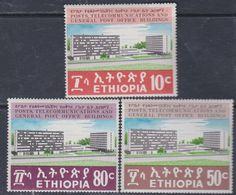 Ethiopie N° 577 / 79 XX Bâtiments Des Postes, Télécms Et Direction Générale , Les 3 Valeurs Sans Charnière, TB - Ethiopie