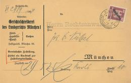 Dienstbrief Vereinfachtes Verfahren München Justizpalast 28.5.1925 - Deutschland