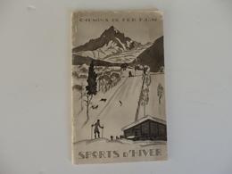 Beau Fascicule 42 P. Sue Les Chemins De Fer P.L.M Sports D'hiver. Signé J. Zoucher. Chamonix-Mont-Blanc. - Tourism Brochures