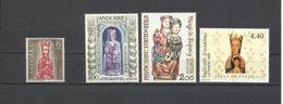 Andorra Francesa. 3 Sellos Y 1 Sello De Andorra Española. Virgen. - Cristianismo