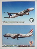 2 PCs Saudi Arabia And Croatia Teams Airliners Boeing 777-368(ER) Airbus A319-112 - 1946-....: Era Moderna