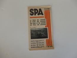 Dépliant Sur Spa En Belgique. La Perle Des Ardennes. - Tourism Brochures