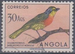 Angola Vögel 1951: Mi 360 30,00 A. Gestempelt - Angola
