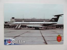 Odessa (Odesa) Retro Airport Interflug Airliner (of East Germany) Moderm PC Odessa 225 Years - Aerodrome