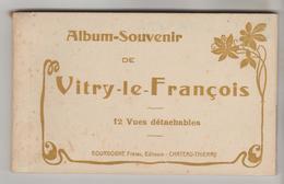 CARNET COMPLET 12 CPSM VITRY LE FRANCOIS (Marne) - Vue Générale, Monuments.... - Vitry-le-François
