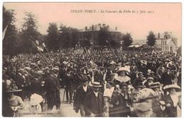 RARE SEDAN-TORCY (Ardennes 08) - LE CONCOURS DE PECHE Du 7 JUIN 1912 Avec SUPERBE ANIMATION SPORT PECHEURS - Sedan