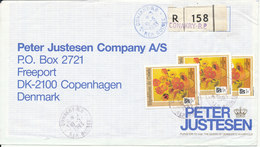 Guinea Registered Cover Sent To Denmark Conakry 10-5-1993 Topic Stamps - Guinea (1958-...)