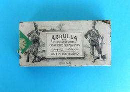 EGYPTIAN BLAND - ABDULLA CIGARETTES ... Beautifull Antique Tin Box * Larger Size * Cigarette Zigaretten Sigarette - Boites à Tabac Vides