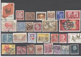 Wereld World 27 Different Stamps Used - Check Scan - 27 Verschillende Zegels Gest. - Na Te Kijken - Ref Poch 1300 - Timbres