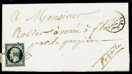 LET2- LETTRE DU VIGAN- EMPIRE  N°10b B + CAD DU VIGAN  T. 15 1853- 4 SCANS - Postmark Collection (Covers)
