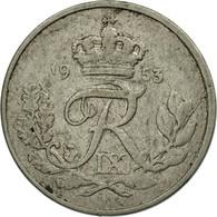 Monnaie, Danemark, Frederik IX, 10 Öre, 1953, Copenhagen, TB+, Copper-nickel - Danemark
