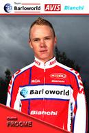 CARTE CYCLISME CHRIS FROOME TEAM BARLOWORLD 2009 - Radsport