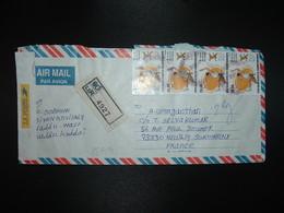 LR Pour FRANCE TP ASIAN ATHLETIC 26.00 Bande De 4 + TP 20.00 + TP 2.00 OBL.3 4 2004 + AUTOCOLLANT LA POSTE (FRANCE) - Sri Lanka (Ceylan) (1948-...)