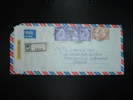 LR Pour FRANCE TP 10.00 X9 + TP 3.00 Paire OBL.27 5 2003 + AUTOCOLLANT LA POSTE (FRANCE) - Sri Lanka (Ceylan) (1948-...)