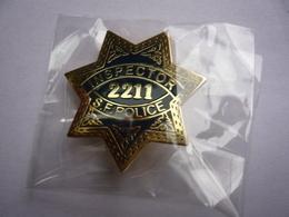 Broche POLICE SAN  FRANCISCO INSPECTEUR 3,5 X 3,5 Neuf Sous Blister - Autres Collections