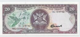 Trinidad & Tobago P.39c 20 Dollars 1990  Unc - Trinidad & Tobago